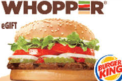 $25 Burger King Gift Card